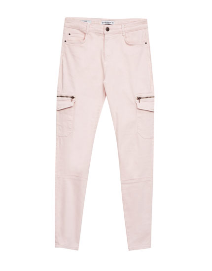 Skinny fit cargo trousers