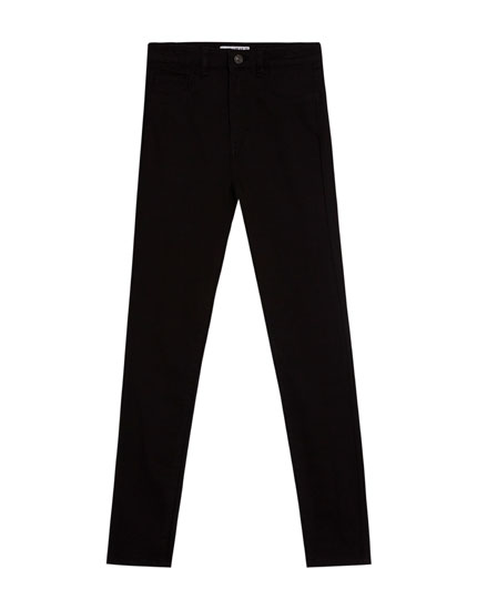 High waist skinny trousers