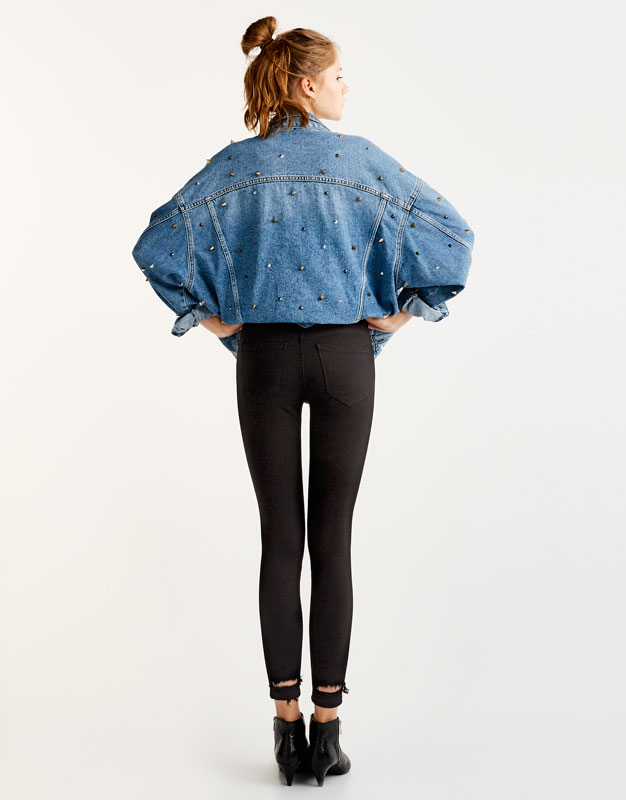 Mid rise body curve jeans
