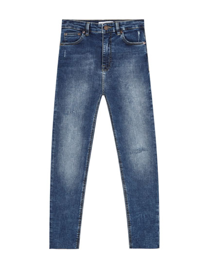 Very high waist skinny fit jeans