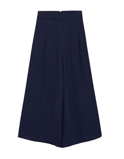 Basic culotte pantolon