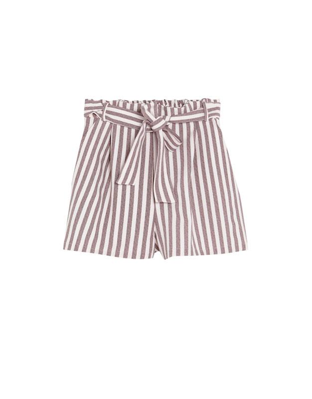 shorts de rayas Pull and Bear rebajas verano