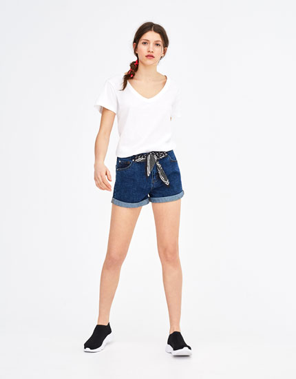 Shorts denim mom fit