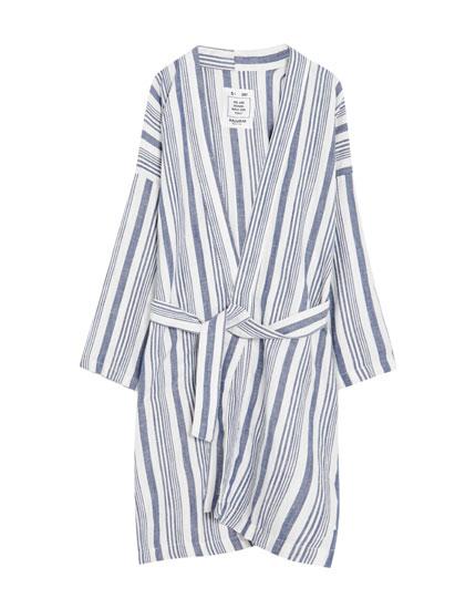 Gara svītraina kimono virsjaka