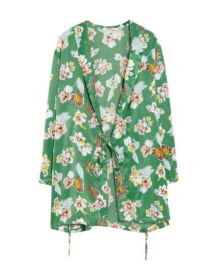 Kimono imprimé fleurs