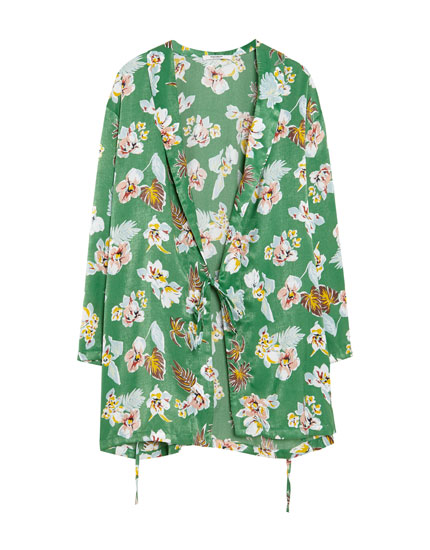 Kimono in bloemenprint