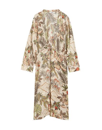 Kimono largo estampado
