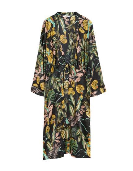 Lange kimono in print