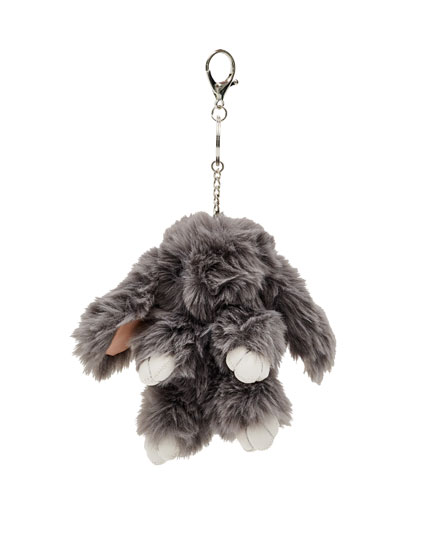 Faux fur key ring
