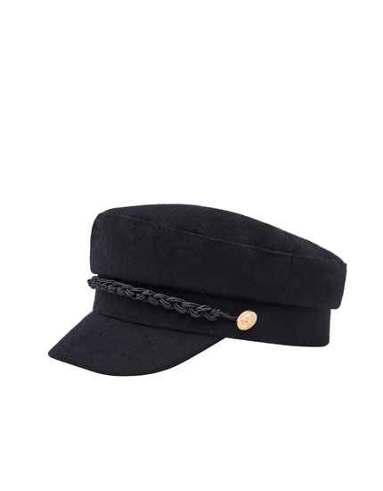 Nautical cap with rope detail
