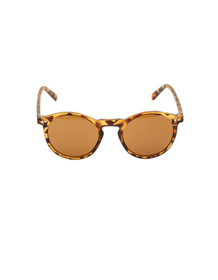 Gafas de sol montura redonda carey