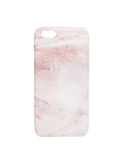 Pink marble effect iPhone case