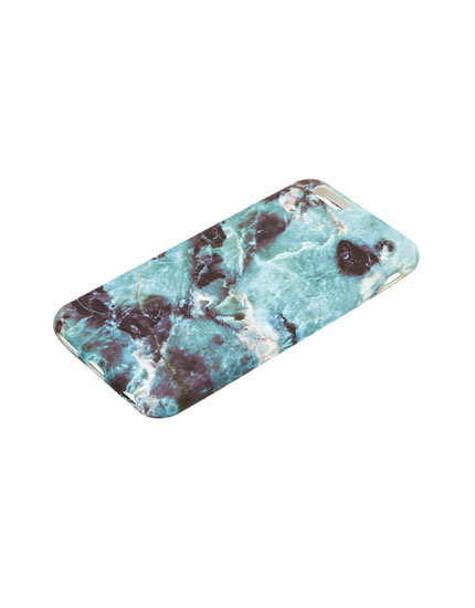 Marble effect phone case