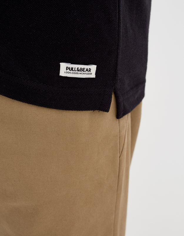 Basic short sleeve polo shirt
