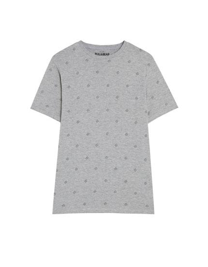 Camiseta de manga corta dados de la suerte