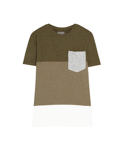 Short sleeve T-shirt with panels