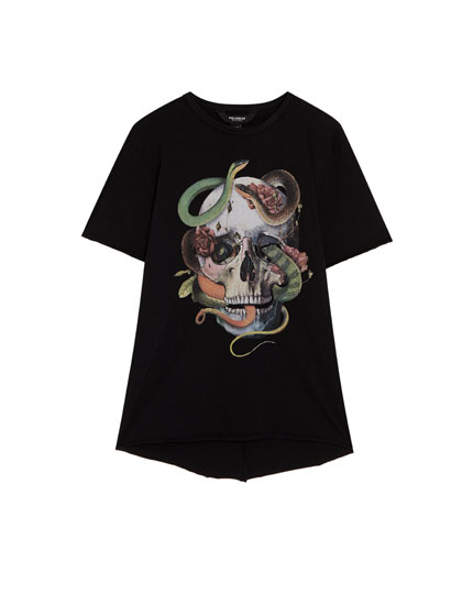 Short sleeve T-shirt with skull