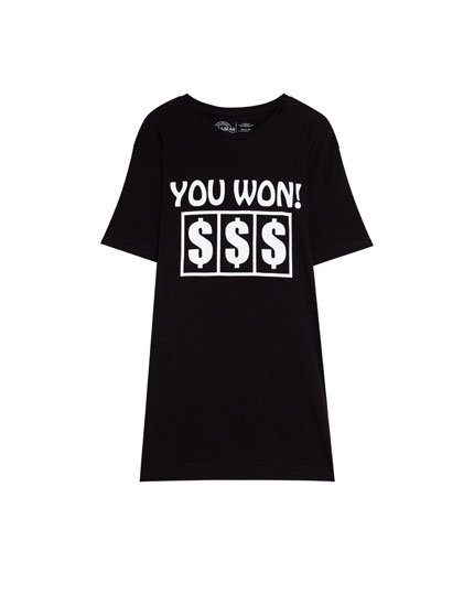 T-shirt with dollar signs