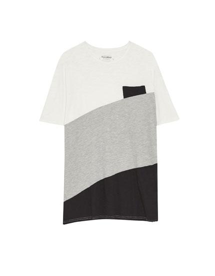 Μπλούζα με διαγώνιες λωρίδες