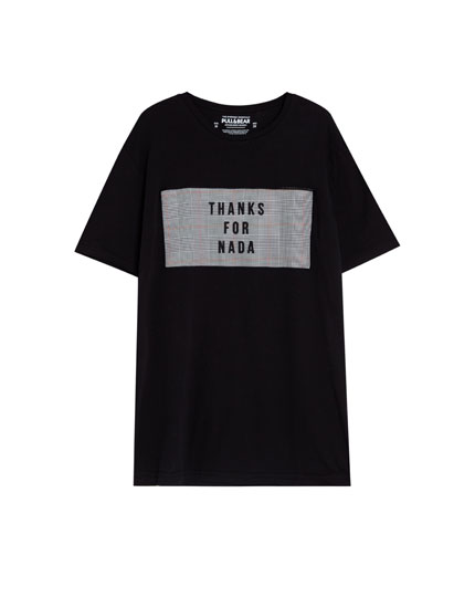 T-shirt with text box