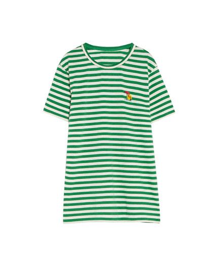 Μπλούζα με ρίγες σε διάφορα χρώματα