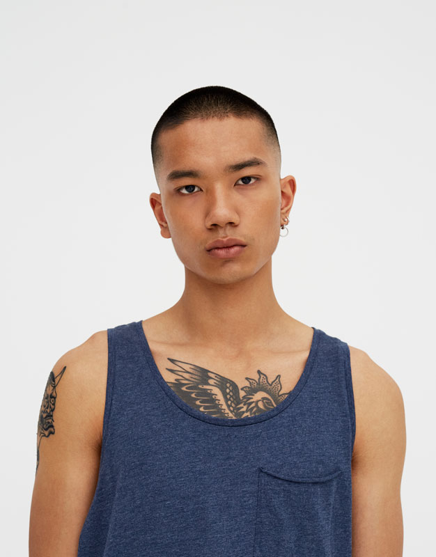 Vest Top With Pocket by Pull & Bear