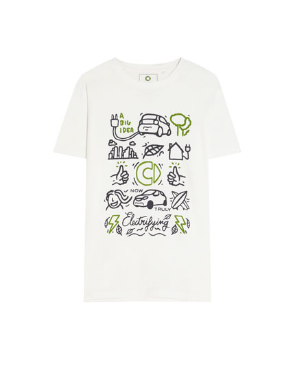 Camiseta smart de algodón orgánico dibujos