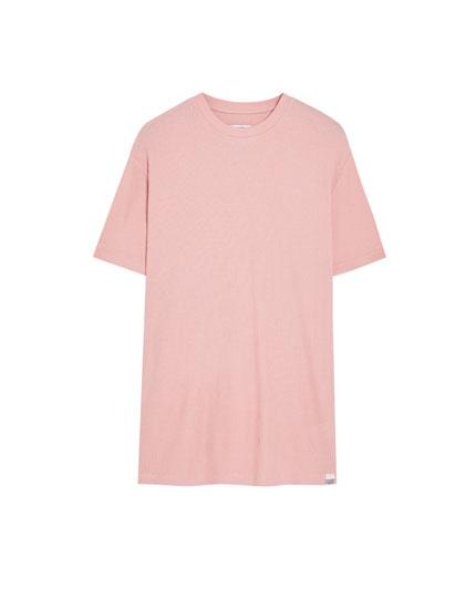T-shirt à manches courtes gaufré