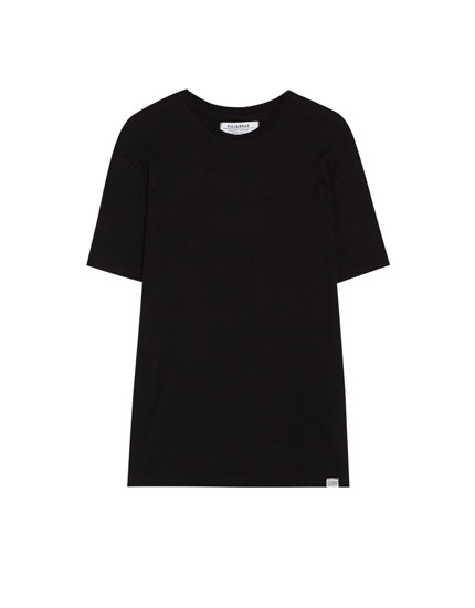 Short sleeve waffle knit T-shirt