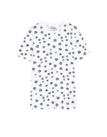 All-over leaf print T-shirt