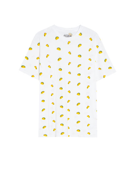 Camiseta con print all over taco