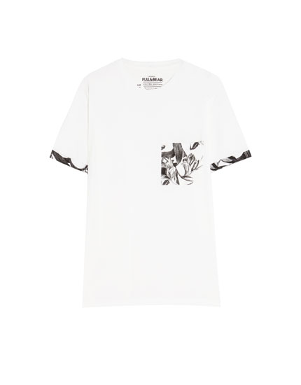 Skull T-shirt with pocket