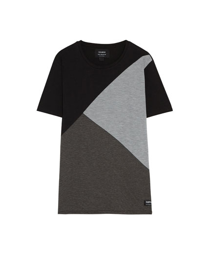 T-shirt with triangle panel