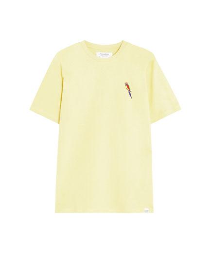 Shirt aus Baumwolle mit Stickerei