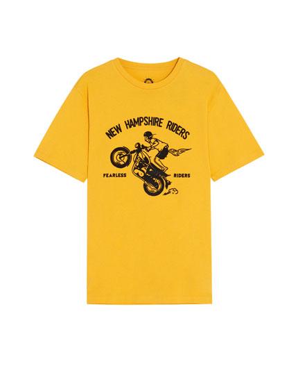 Tricou cu print biker