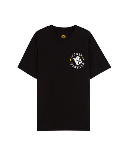 Camiseta de manga corta con moto