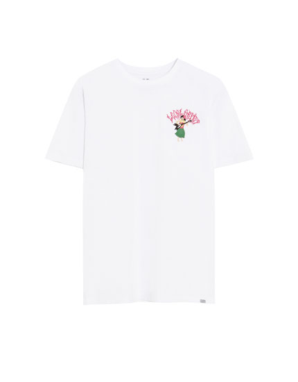 T-shirt with Hawaiian embroidery