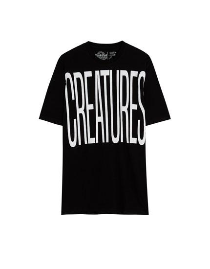 Shirt mit kurzen Ärmeln mit Oversize-Schriftzug