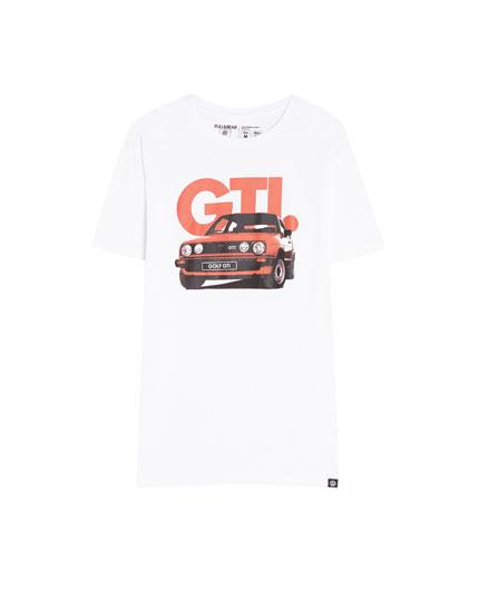 T-shirt with a retro Golf GTI print