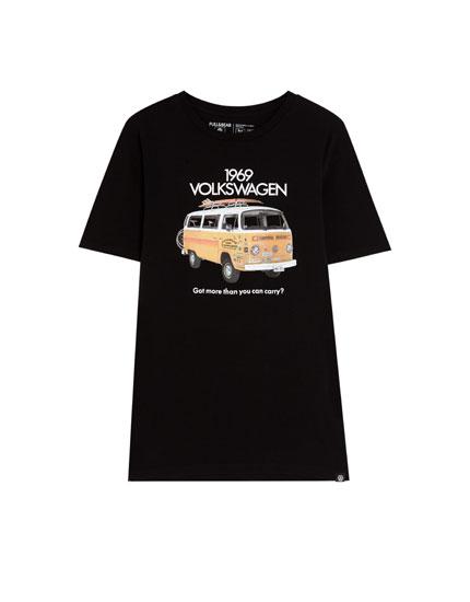 Μπλούζα με ρετρό στάμπα Volkswagen