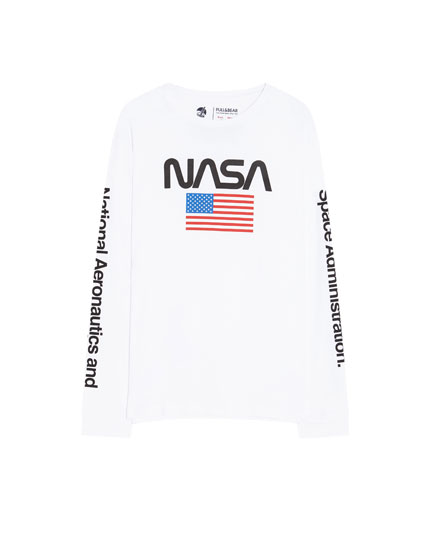 Flag T-shirt with NASA logo