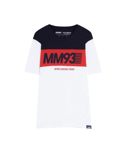 Playera MM93 con panel en rojo