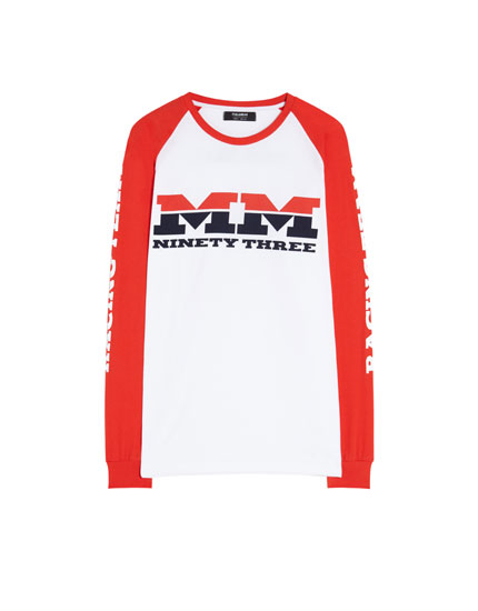 MM93 T-shirt with contrasting sleeves
