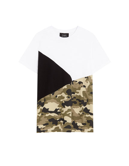 Diagonal panels T-shirt