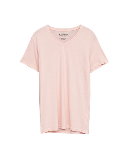 Basic V-neck summer T-shirt
