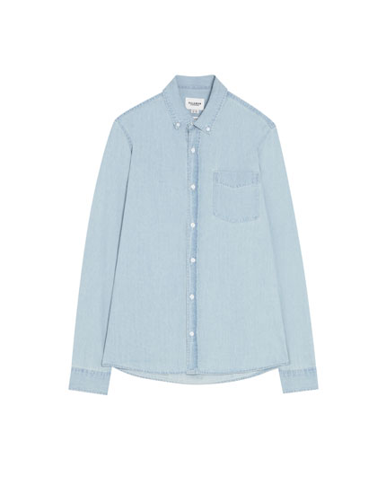 Denim shirt with a chest pocket