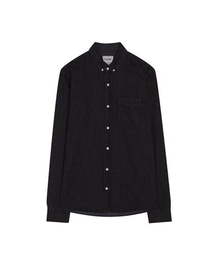 Denim shirt with a chest pocket