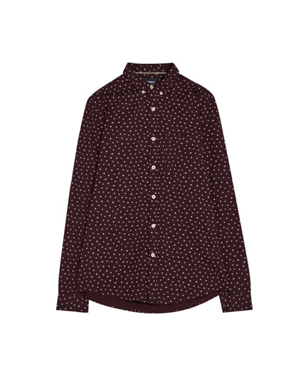 Long sleeve shirt with mini print