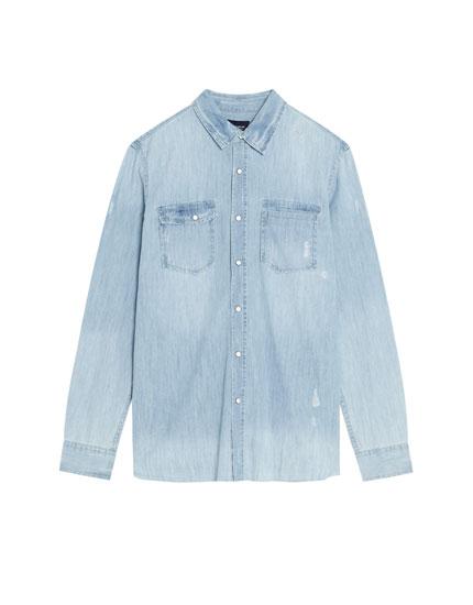 Camisa vaquera de manga larga