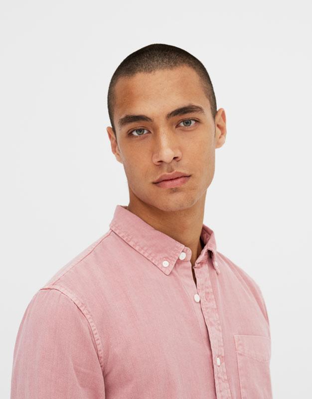 Coloured denim shirt